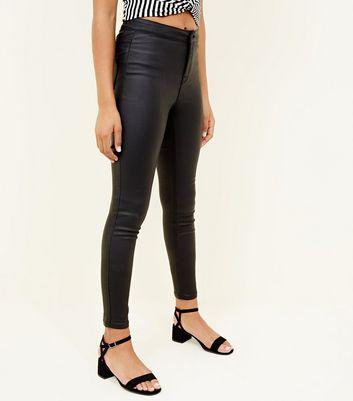 Girls Black Coated High Waist Super Skinny Jeans Für später speichern Von gespeicherten Artikeln entfernen