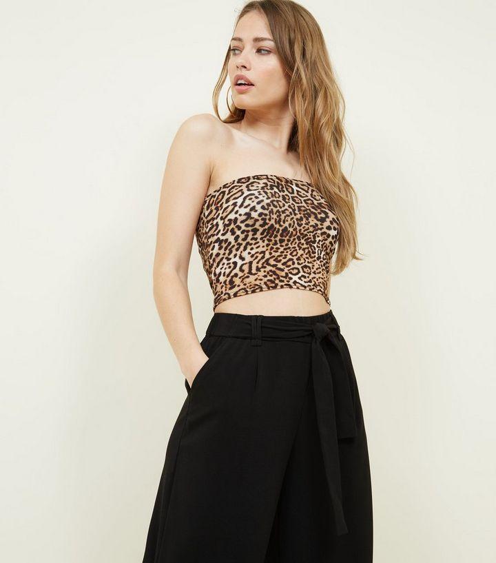 055423b9d4f0 Brown Leopard Print Bandeau | New Look