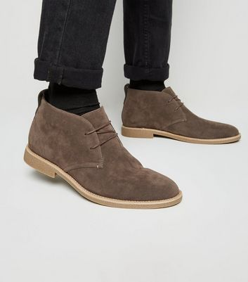 Light Brown Faux Suede Desert Boots