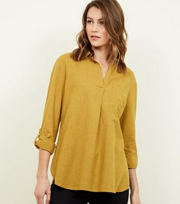 Mustard Pocket Front Shirt