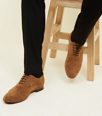 Tan Faux Suede Derby Shoes | New Look