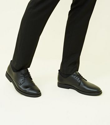 Black Derby Shoes | New Look