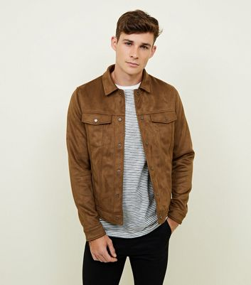 Tan Faux Suede Western Jacket