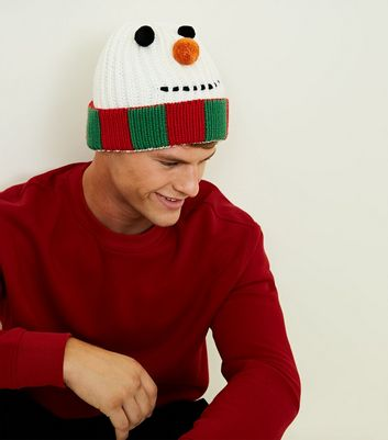 Multicoloured Christmas Snowman Beanie Hat