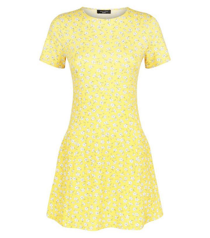 b3ba476b8ffc ... Petite Yellow Ditsy Floral Cap Sleeve Swing Dress. ×. ×. ×. Shop the  look