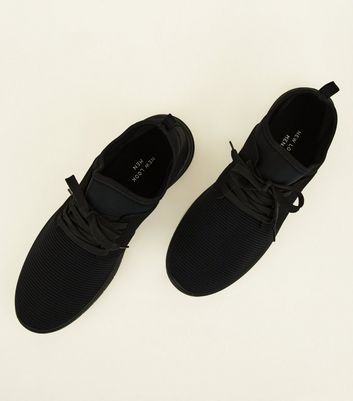 Black Ribbed Sports Trainers Add to Saved Items Remove from Saved Items