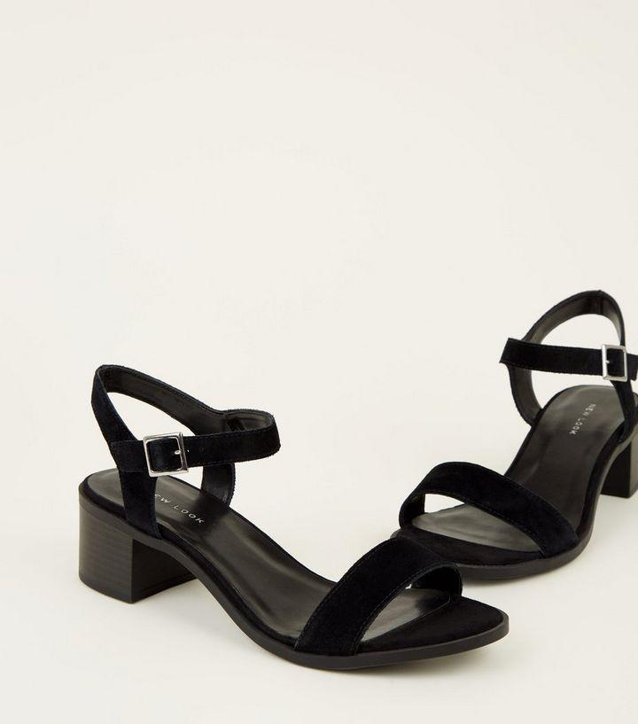 70225dd257fa ... Black Suede Two Part Block Heel Sandals. ×. ×. ×. Shop the look