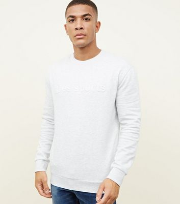 Grey Des Sports Embroidered Crew Neck Sweatshirt