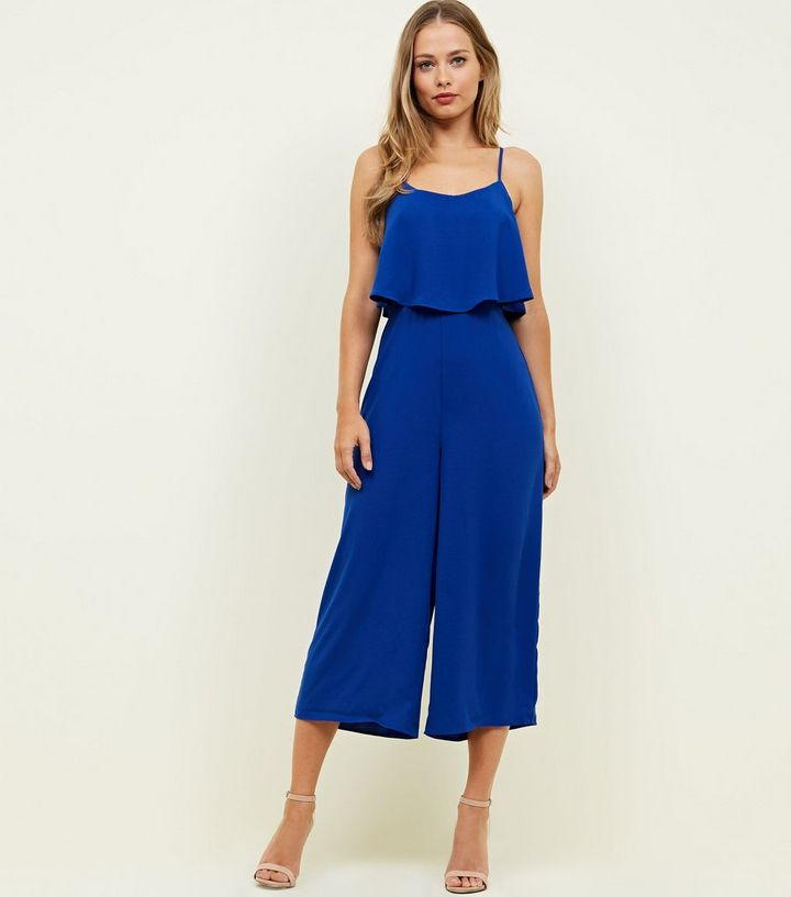 93acd3a696 ... Bright Blue Layered Wide Leg Jumpsuit. ×. ×. ×. Shop the look