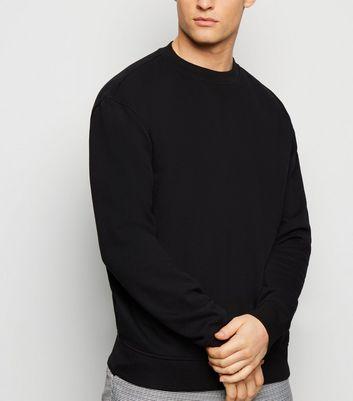 Schwarzes Sweatshirt mit tief angesetzter Schulter Für später speichern Von  gespeicherten Artikeln entfernen