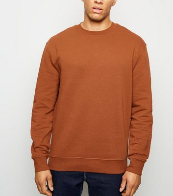 Rust Dropped Shoulder Sweatshirt