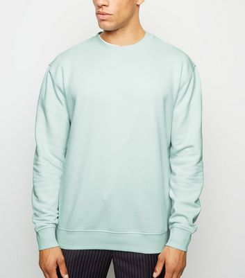 Light Green Dropped Shoulder Sweatshirt