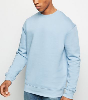 Pale Blue Dropped Shoulder Sweatshirt
