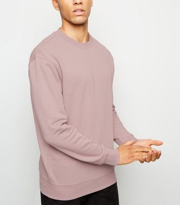 Light Purple Dropped Shoulder Sweatshirt
