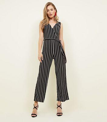 06c7b816886 Cameo Rose Black Stripe Wrap Jumpsuit