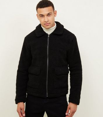 Black Borg Zip Front Jacket
