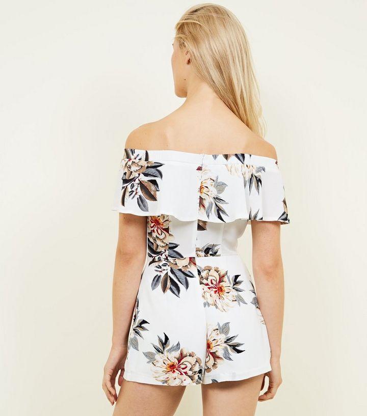 804c93570ec ... White Floral Bardot Playsuit. ×. ×. ×. Shop the look