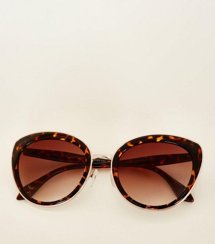 6a776398391 ... Women s Sunglasses · Dark Brown Faux Tortoiseshell Cat Eye Sunglasses.  ×. ×. ×. 1