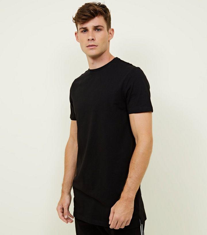 Black Longline T-Shirt  fc5abd15e12