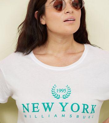 Curves White New York Print T-Shirt New Look