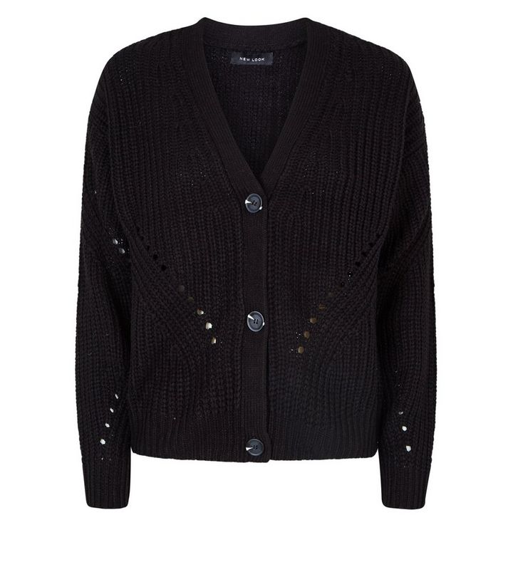 a8dcb5fe7a ... Black Chunky Pointelle Knit Cardigan. ×. ×. ×. Shop the look