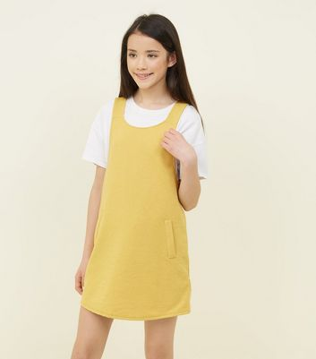 Girls Mustard Pinafore Dress