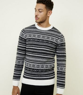 Navy Fairisle Crew Neck Jumper