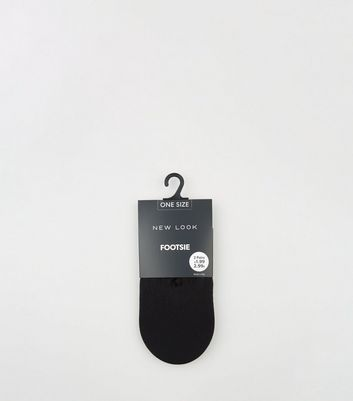 2 Pack Black Footsie Socks
