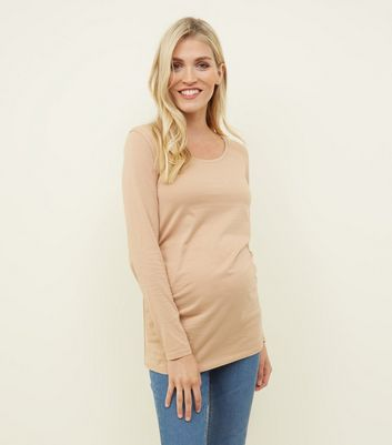 Maternity Camel Long Sleeve T-Shirt