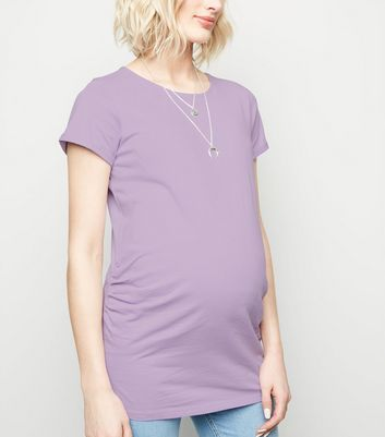 Maternity Lilac Short Sleeve T-Shirt