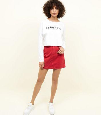 Noisy May Brooklyn Slogan Crop T-Shirt New Look