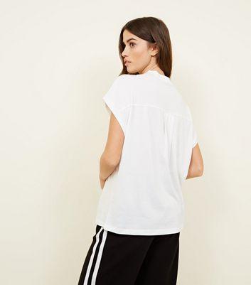 Noisy May White High Neck Short Sleeve T-Shirt New Look