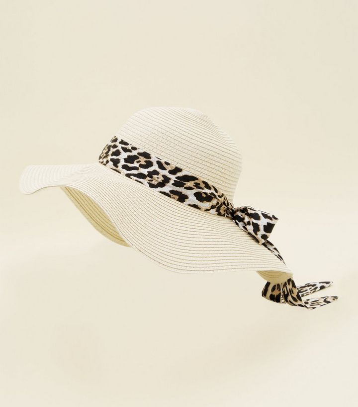 2e9dcfd9d Dark Brown Leopard Print Tie Floppy Hat Add to Saved Items Remove from  Saved Items