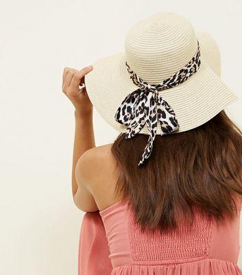 Dark Brown Leopard Print Tie Floppy Hat New Look thumbnail 30ca0ef0d57
