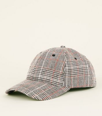 Grey All-Over Check Cap