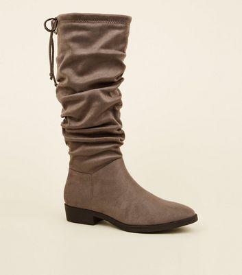 Flat amp; Boots Knee New Look Heeled High qA5TxwnzTt