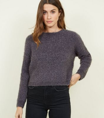 Dark Grey Fluffy Chenille Jumper
