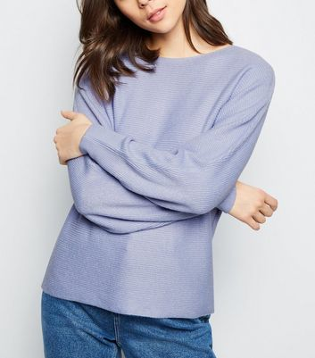 Light Purple Batwing Sleeve Jumper