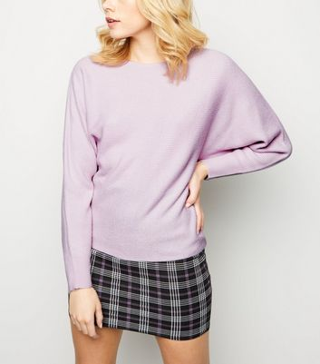 Lilac Batwing Sleeve Jumper