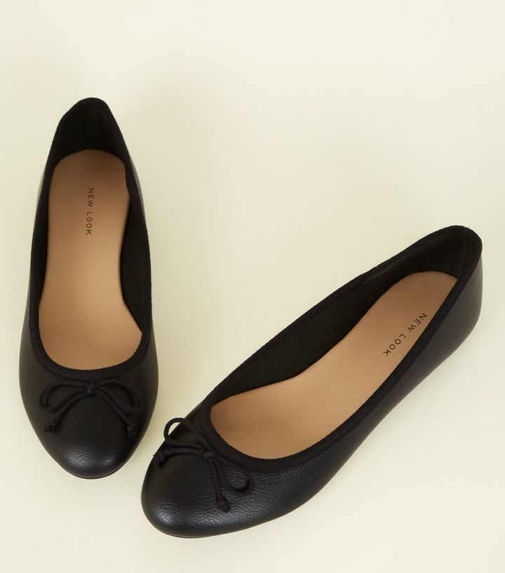 6f534c139c ... Black Leather-Look Bow Front Ballet Pumps. ×. ×. ×. Shop the look