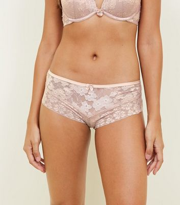 Pale Pink Lace Brazilian Briefs