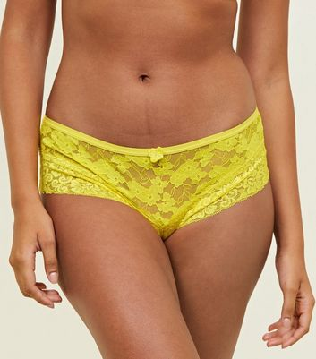 Yellow Lace Brazilian Briefs