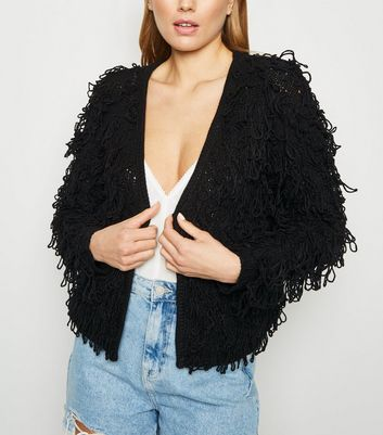 Black Loop Knit Cardigan