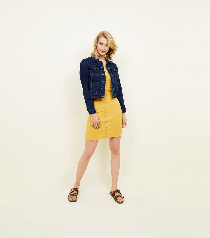7ec27848e27 ... Mustard Ribbed Button Front Bodycon Mini Dress. ×. ×. ×. Shop the look