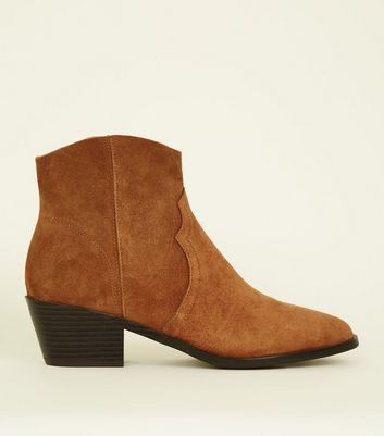 Tan Suede Western Boots