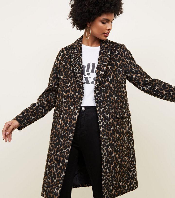 c9dd9e42c70 ... Brown Leopard Print Longline Coat. ×. ×. ×. Shop the look