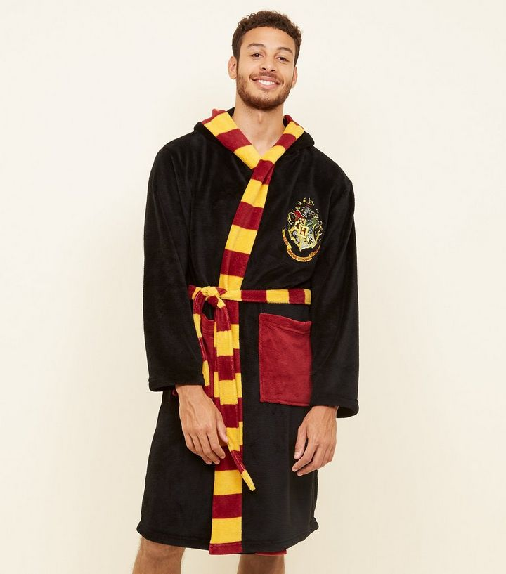 60c9a3a218 Black Hogwarts Crest Harry Potter Dressing Gown Add to Saved Items Remove  from Saved Items