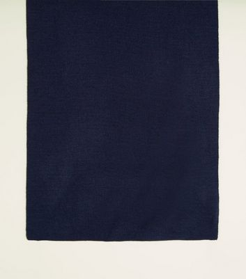 Navy Jersey Knit Scarf by New Look