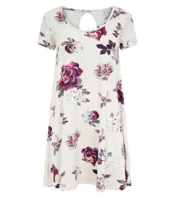 Brave Soul White Floral Smock Dress New Look