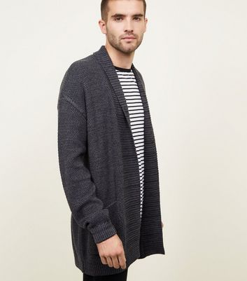 Grey Dropped Sleeve Cardigan